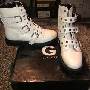 White Guess Boots